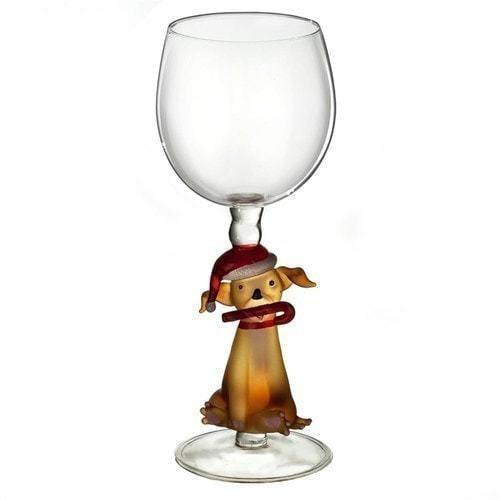 """Бокал для вина из стекла ручной работы. """"Собака в колпаке"""" (фото)"""