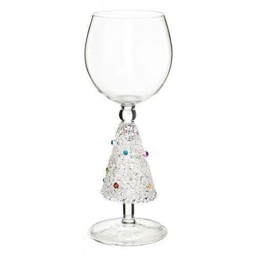 """Бокал для вина из стекла ручной работы. """"Хрустальная ель"""""""