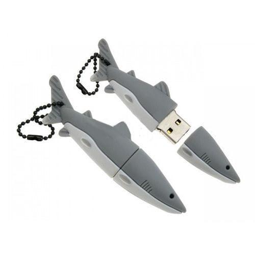 Подарочная флешка. Акула (цвет серый)