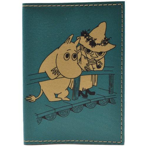Кожаная обложка на паспорт. Мумми-троль