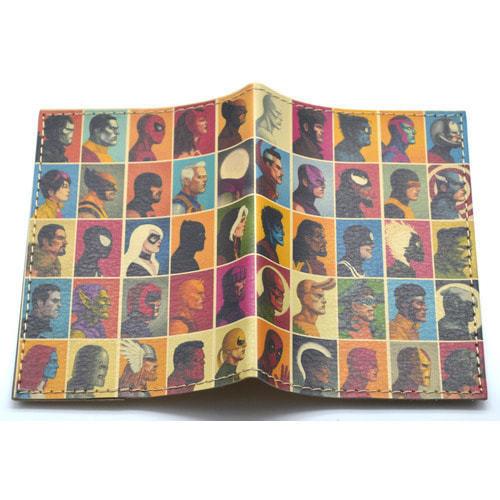 Кожаная обложка на паспорт. Супергерои. Мстители (фото)