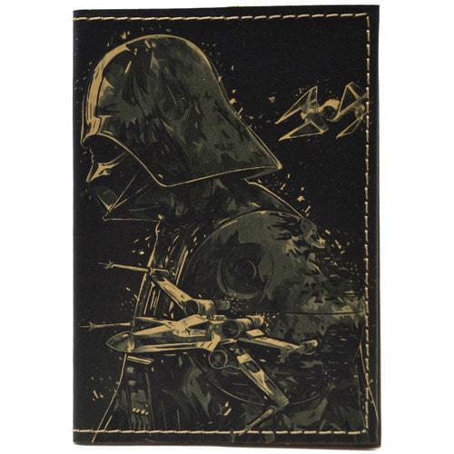Кожаная обложка на паспорт. Звездный войны. Дарт Вейдер (фото)