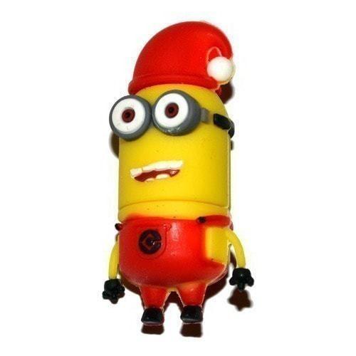 Подарочная флешка. Миньон в рождественской шапке (фото)