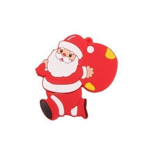 Подарочная флешка. Дед Мороз с мешком подарков (фото)