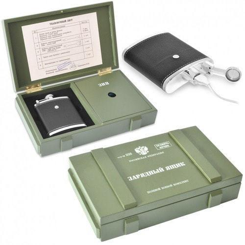 Подарочный набор с внешним аккумулятором. Зарядный ящик (11000 mah) (фото)