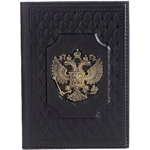 Кожаная обложка на паспорт. «Федерация»