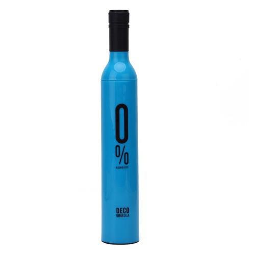 Складной зонт. Бутылка (цвет синий)