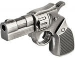 Подарочная металлическая флешка. Револьвер (цвет серебро)