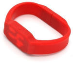 Подарочная флешка. Электронные часы в виде браслета (цвет красный)