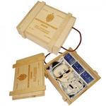 Подарочный набор в деревянном футляре. Неприкосновенный запас (штоф Шпион, 3 стопки)