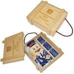 Подарочный набор в деревянном футляре. Неприкосновенный запас (штоф инспектор ГАИ, 3 стопки)