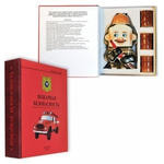 Подарочный набор с фарфоровым штофом. Пожарная безопасность (фляга Пожарный, 3 рюмки)