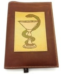 Подарочный ежедневник в кожаной обложке. Медицина - 1 (цвет коричневый)