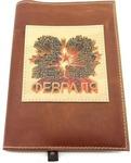 Подарочный ежедневник в кожаной обложке. С праздником, 23 февраля! (цвет коричневый)