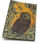 Кожаная обложка на паспорт. Сова
