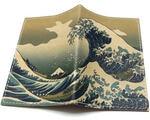 Кожаная обложка на паспорт. Большая волна в Канагаве