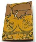 Кожаная обложка на паспорт. Гомер Симпсон в тату