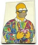 Кожаная обложка на паспорт. Гомер Симпсон с пончиками
