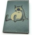 Кожаная обложка на паспорт. Жил-был пес. Волк
