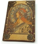 Кожаная обложка на паспорт. Арт-Нуво