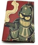 Кожаная обложка на паспорт. Футурама. Робот Блендер