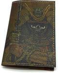 Кожаная обложка на паспорт. Самурай