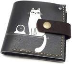 Кожаный кошелек. Кот