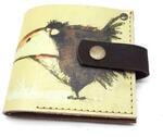 Кожаный кошелек. Ворона