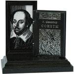 Подарочный набор с миниатюрной книгой в кожаном переплете. Шекспир «Сонеты»