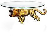 """Стеклянное блюдо-подставка """"Тигр"""" (15 см)"""