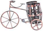 """Оригинальная металлическая подставка под бутылку """"Французский велосипед"""""""