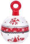 Керамическая вазочка с крышкой. Новогодний шар