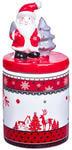Керамическая вазочка с крышкой. Дед Мороз