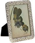 Ювелирная фоторамка с кристаллами. Белые цветы (под фото 13х18 см)