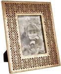 Подарочная деревянная фоторамка. Винтажное золото (под фото 13х18 см)
