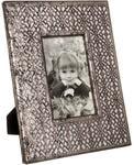 Подарочная деревянная фоторамка. Винтажное серебро (под фото 10х15 см)