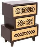 Подарочная деревянная шкатулка-комод. Арт-Деко (винтажное золото) (26 x 21 x 13 см)