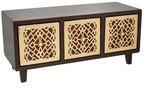 Подарочная деревянная шкатулка-комод. Арт-Деко (винтажное золото) (35x15x15 см)