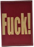 Кожаная обложка на паспорт. 18+ (цвет бордо)