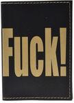 Кожаная обложка на паспорт. 18+ (цвет черный)