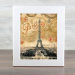 Деревянная ключница. Эйфелева башня (цвет белый)