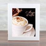Деревянная ключница. Magic of coffee