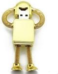 Подарочная металлическая флешка. Робот с пружинками