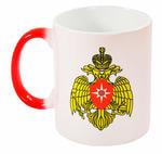 Подарочная керамическая кружка-хамелеон. МЧС России
