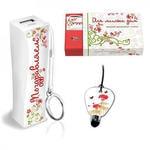 """Подарочный набор """"Поздравляю"""" в стильной упаковке (аккумулятор 2200 mAh + стилус для телефона)"""