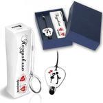 """Подарочный набор """"С 14 февраля"""" в стильной упаковке, (аккумулятор+стилус), емкость 2200 mAh"""
