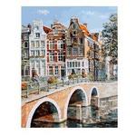Раскрашивание по холсту. Размер холста 40*50 см. Императорский канал в Амстердаме