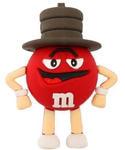 Подарочная флешка. M&M`s в шляпе. Цвет красный