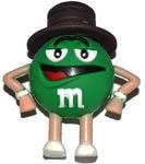 Подарочная флешка. M&M`s в шляпе. Цвет зеленый