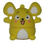 Подарочная флешка. Мышка (желтая)